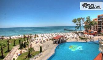 Луксозна почивка на 10 метра от плажа в Елените! Нощувка на база All Inclusive + Аквапарк, шезлонг, чадър, от Хотел Роял Парк 4*