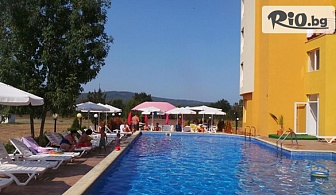 Лятна почивка на 150 метра от плажа в Приморско! Нощувка на база All Inclusive + басейн, чадър и шезлонг, и безплатно за дете до 12г, от Хотел Ориос 3*