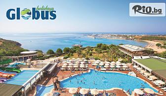 Лято в Дидим! 5 или 7 нощувки на база All Inclusive в Didim Beach Resort Aqua and Elegance Thalasso 5* + безплатно за 2 деца до 13 год., със собствен транспорт, от Глобус Холидейс