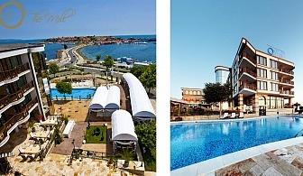 Лято, лукс и уникална морска гледка. Нощувка със закуска за двама + басейн в хотел-ресторант Мелницата, Несебър