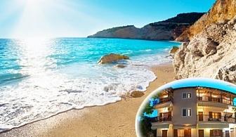Лято на о.Лефкада на 200м. от морето! Нощувка за двама, трима или четирима + кухненски бокс и морски изглед на супер цена в Aggeliki Apartments**, Гърция!