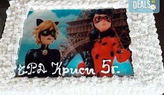 С любима снимка! Голяма детска торта 20 или 25 парчета със снимка на любим герой от Сладкарница Джорджо Джани!