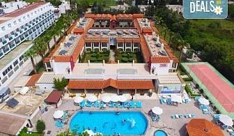 Майски празници в Бодрум с Караджъ Турс! 7 нощувки на база All Inclusive в Tiana Beach Resort 4*, комбиниран транспорт - автобус и чартърен полет, летищни такси, трансфери