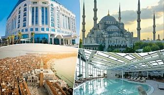 Майски празници на Мраморно Море, Турция! 2 нощувки със закуски и вечери в луксозния Eser Premium Hotel & Spa, Кумбургаз до Истанбул  + транспорт от ТА Трипс Ту Гоу