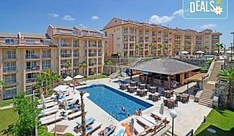 Майски или Септемврийски празници в Кушадасъ, Турция! 5 или 7 нощувки на база All Inclusive в CLC Kusadasi Golf & Spa Resort 5*, безплатно за дете до 12 г., възможност за транспорт!