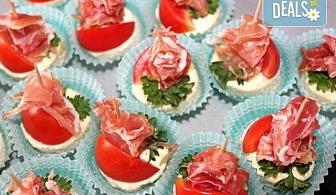 Малки кулинарни изкушения за щастливи мигове! 140 бр. хапки и бонус 50% отстъпка от сладките вкуснотийки на Мечо Фууд Кетъринг!