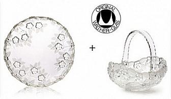 Малките неща от живота! Изящни Плато + Фруктиера с престижната немска марка Walther glass + Безплатна Доставка за 29 лв., отново от Vertex
