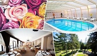8 Март във Вонеща вода. 2 или 3 нощувки на човек със закуски и вечери, едната празнична + басейн в хотел Велиста