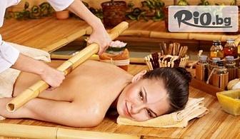 """Масаж """"Тиан де"""" с бамбукови пръчки на цяло тяло за тонизиране и релакс само за 19.90лв, от Салон за красота GIRO"""
