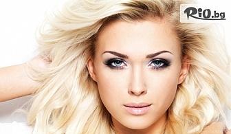 Масажно измиване на коса + терапия за подхранване с топла маска + стайлинг за косата и кератинова терапия, от Tesori Beauty Salon