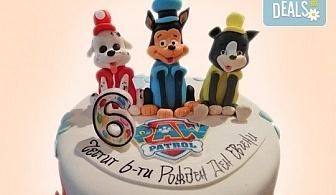 """MAX цветове! Детски торти """"MAX цветове"""" с 2, 3 или 4 фигурки, фотодекорация и апликация по дизайн на Сладкарница Джорджо Джани"""