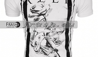 Мъжка Бяла Тениска Religion Ft6214