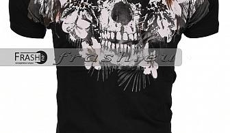 Мъжка Черна Тениска Religion Ft6215