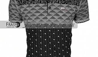 Мъжка Тениска с Яка Батал Ft6160