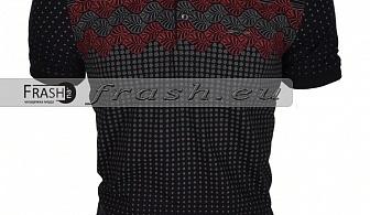 Мъжка Тениска с Яка Батал  Ft6159