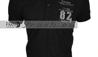 Мъжка Тениска с Яка Батал  Ft6158