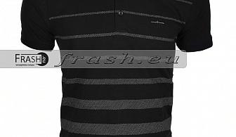 Мъжка Тениска с Яка Батал  Ft6157