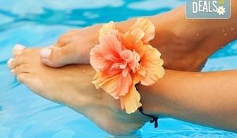 Mедицински СПА педикюр с лак в цвят по избор от богатата палитра на SNB, Бонус: две красиви декорации и масаж на ходилата от Nail Salon Desire!