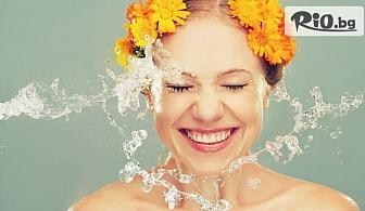 Механично и апаратно почистване на лице с био козметика, водно дермабразио и тонизиращ масаж на лице, шия и деколте, от Козметично студио FACEandBODY SHOP