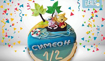 6 месеца! Детска фигурална торта 1/2 за бебета на шест месеца и радости за цялото семейство от Сладкарница Джорджо Джани!