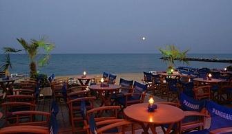 На 10 метра от брега на морето в хотел Panorama - Олимпийска ривиера с безплатни чадър и шезлонг на плажа за една нощувка и закуска / 11.07.2017 - 31.08.2017