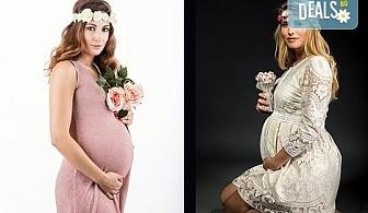60-минутна фотосесия за бременни в студио с включени аксесоари, дрехи и ефекти + обработка на всички заснети кадри, от Chapkanov photography