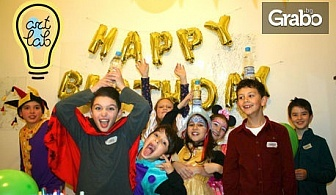 60-минутно парти за до 15 деца в Creative playground с много забавни и образователни игри, дискотека, костюми и грим