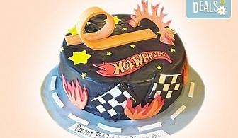 За момчета! Детска 3D торта за момчета с коли и герои от филмчета с ръчно моделирана декорация от Сладкарница Джорджо Джани