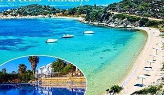 На море в Гърция, остров Амулиани! 3 нощувки със закуски и вечери в хотел Agionissi Resort 4*