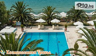 На море в Халкидики, Гърция през Август! 5 нощувки, закуски и вечери в Kassandra Мare Hotel 3*, от Космополитън Травъл