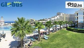 На море в Кушадасъ! 7 нощувки на база Ultra All Inclusive в Sea Light Resort Hotel 5* + безплатно за деца до 12.99 г, от Глобус Холидейс