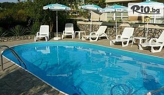На море в Лозенец на 60 метра от плажа! Нощувка, закуска, обяд и вечеря + външен басейн, шезлонг и чадър, от Хотел Атива 3*