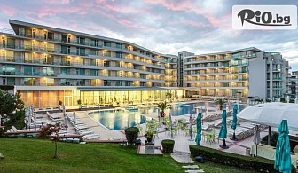 На море в Несебър! Нощувка на база All Inclusive + вътрешен и външен басейн, джакузи, шезлонзи и чадъри, от Хотел Феста Панорама 4*