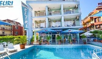 На море в Несебър на 100м. от плажНощувка със закуска + басейн в Хотел Елири!