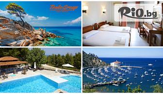 На море през Август и Септември в Халкидики със собствен транспорт! 5 нощувки със закуски и вечери в хотел Forest Park Hotel 3*, от Теско груп