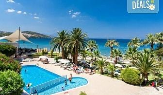 На море септември в Кушадасъ, Турция, с Глобус Холидейс! 7 нощувки All Inclusive в хотел Tusan Beach Resort 5*, безплатно за дете до 12 г., собствен транспорт