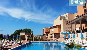 На море в Созопол в ТОП сезона! Хотел Хера 3*, в местност Буджака до плажа Харманите! Нощувка и закуска на блок маса, настаняване в двойна стая, ползване на басейн, шезлонги и чадъри, безплатен паркинг към хотела