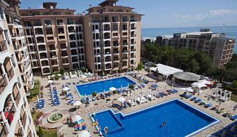 На море в Златни пясъци! Нощувка + ползване на чадър и шезлонг на басейна от хотел Бендита Марe