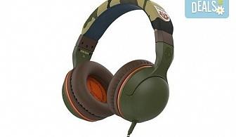 Музика без ограничения! Вземете слушалки SkullCandy Hesh 2.0 с микрофон в цвят Olive/Camouflage!