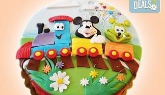 За най-малките! Детска торта с Мечо Пух, Смърфовете, Спондж Боб и други герои от Сладкарница Джорджо Джани