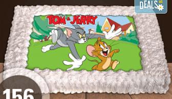 За най-малките! Голяма торта със снимка 20, 25 или 30 парчета за празника на Вашето дете с герой от филм от Сладкарница Джорджо Джани!