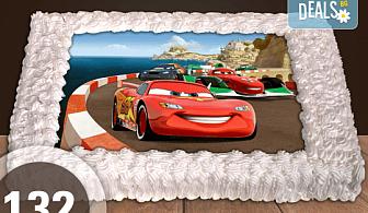 За най-малките! Торта със снимка 20, 25 или 30 парчета за празника на Вашето дете с герой от филм от Сладкарница Джорджо Джани!