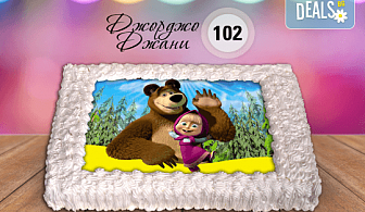 За най-малките! Торта със снимка за празника на Вашето дете с герой от филмче по дизайн от Сладкарница Джорджо Джани!