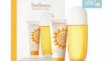 Насладете се на чувствения аромат Elizabeth Arden Sunflowers - тоалетна вода и луксозен лосион за тяло, с безплатна доставка за цялата страна!