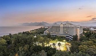 Насладете се на красотата на Анталия - 7 нощувки в Хотел ROYAL SEGINUS 5 *в Лара с богат Ултра Ол Инклузив, чартърен полет от София, трансфери и медицинска застраховка / отпътуване 21 Юли