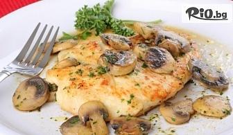 Наслади се на Свежа салата и Основно ястие /по избор/, от Ресторант Интелкооп