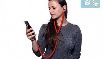 Назад във времето със забавни и нестандартни червени слушалки за мобилен телефон!