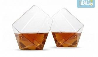 Нестандартно и оригинално! Вземете луксозен сет чаши за уиски с форма на диамант!