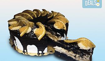 """Неустоим вкус! Опитайте торта """"Карамел"""" с 8 или 14 парчета и възможност за поставяне на надпис или пожелание от сладкарница Дао!"""