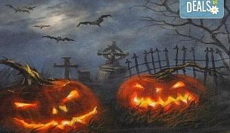 """Незабравимо 3-часово творческо преживяване! Студио за рисуване и вино Art and Wine. На 27 октомври от 18:30ч - на тема """"Хелоуин"""""""